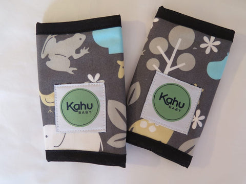 KahuBaby Teething Pads - Charcoal Zoology-Accessories-KahuBaby-Koala Slings - FREE, fast UK shipping