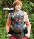 Lenny Lamb Ergonomic Baby Carrier-Buckled carriers-Lenny Lamb-Colours of Rain - Lenny Lamb Baby Carrier-Koala Slings - FREE, fast UK shipping