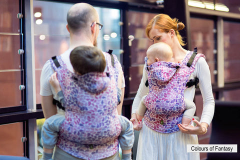 Lenny Lamb Ergonomic Baby Carrier-Buckled carriers-Lenny Lamb-Colours Of Fantasy - Lenny Lamb Baby Carrier-Koala Slings - FREE, fast UK shipping