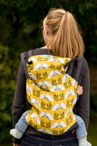 KahuBaby Carrier - Yellow Nesting Bird-Buckled carriers-KahuBaby-Koala Slings - FREE, fast UK shipping