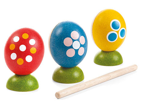 Plan Toys Egg Percussion Set-Toy-Plan Toys-Koala Slings - FREE, fast UK shipping