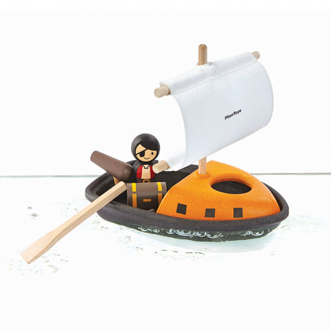 Plan Toys Pirate Boat-Toy-Plan Toys-Koala Slings - FREE, fast UK shipping