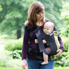 Scootababy Hip Carrier v3 - hire-Sling Library-Scootababy-Houndstooth - two weeks hire-Koala Slings - FREE, fast UK shipping
