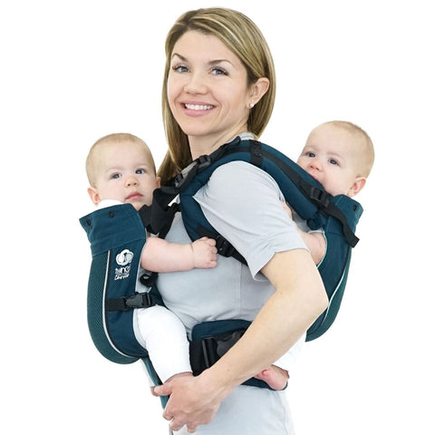 TwinGo Air Carrier - Modern Teal - hire-Sling Library-TwinGo Carrier-Two weeks-Koala Slings - FREE, fast UK shipping