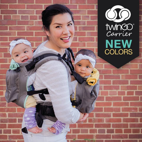 TwinGo Original Carrier grey-TwinGo Carrier-TwinGo Carrier-TwinGo Carrier - Grey-Koala Slings - FREE, fast UK shipping