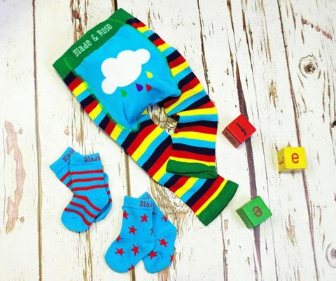 Blade and Rose Baby Leggings-Accessories-Blade and Rose-Rainbow Baby Leggings-0-6 months-Koala Slings - FREE, fast UK shipping