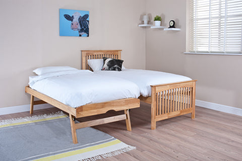 Shaker Oak Guest Bed (with optional mattresses) -