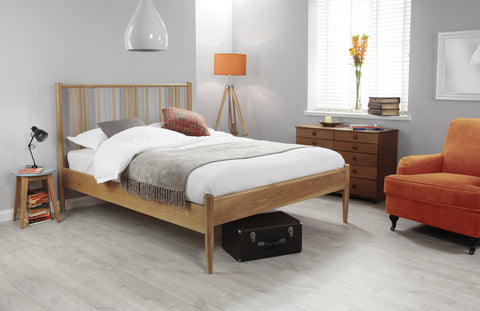 Silentnight Harding American White Oak Bed 5'0 King Size -  - 1
