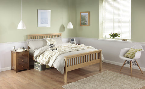 Silentnight Dawson Oak Bed 3'0 Single -  - 1