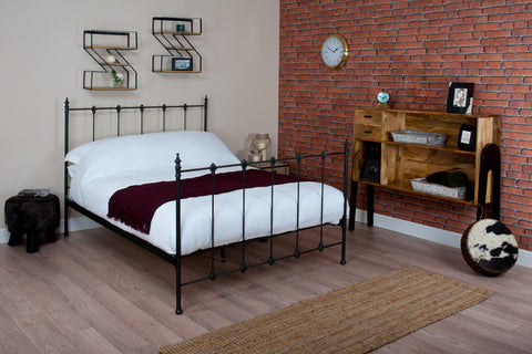Silentnight Coleman Black Metal Bed 4'6 Double -  - 1