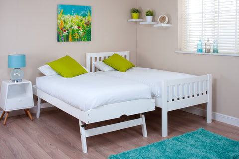 Dover White Guest Bed (with optional mattresses) -  - 1