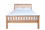 Silentnight Ludlow Oak Sleigh Bed 4'6 Double -  - 5