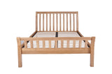 Silentnight Ludlow Oak Sleigh Bed 4'6 Double -  - 8