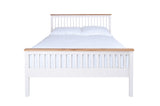 Silentnight Warren White and Oak Bed 3'0 Single -  - 5