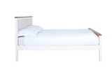 Silentnight Warren White and Oak Bed 3'0 Single -  - 6