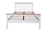 Silentnight Warren White and Oak Bed 3'0 Single -  - 8