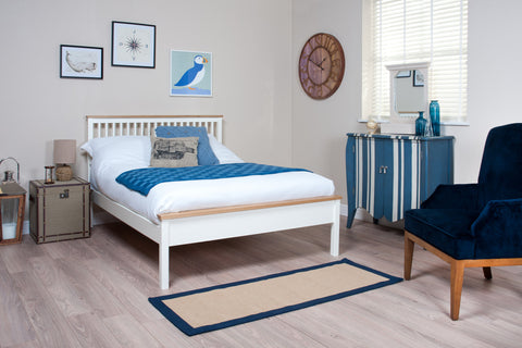 Silentnight Wentworth White and Oak Bed 3'0 Single - Beds Direct - 1