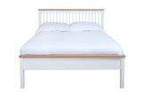 Silentnight Wentworth White and Oak Bed 3'0 Single - Beds Direct - 5