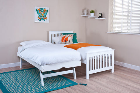 Shaker White Guest Bed (with optional mattresses) -