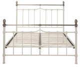 Silentnight Saxby Cream Metal Bed 4'6 Double -  - 8
