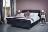 Cadot Watson Midnight Luxury Fabric Bed 5'0 King Size