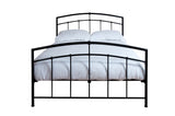 Silentnight Shannon Black Metal Bed 4'6 Double -  - 4