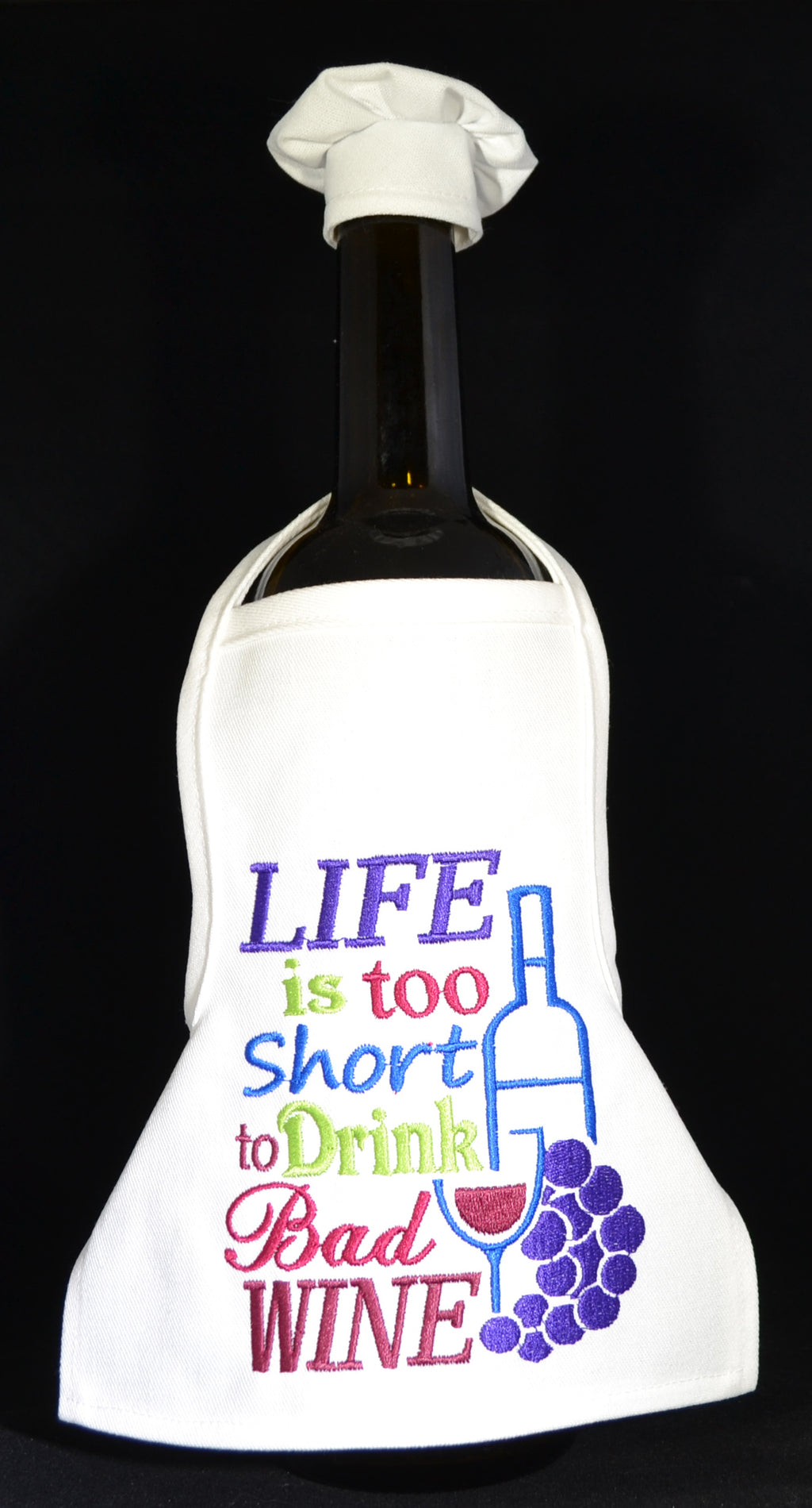 Wine Bottle Apron - Life is too short....