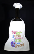 Wine Bottle Apron - The Best wines....