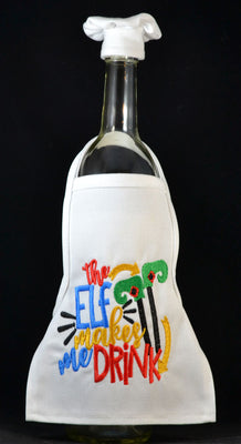 Wine Bottle Apron - Elf