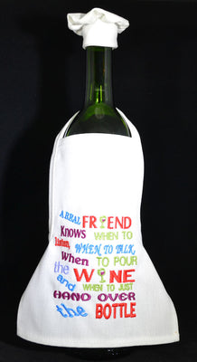 Wine Bottle Apron - A Real Friend