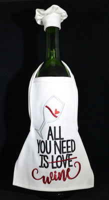 Wine Bottle Apron - All You Need ....