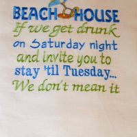 Beach House Tea Towel