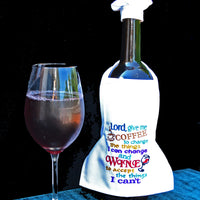 Wine Bottle Apron - Lord Give Me Wine