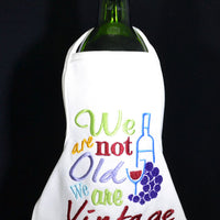 Wine Bottle Apron - Not Old - Vintage