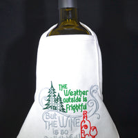 Wine Bottle Apron - Weather Frightful