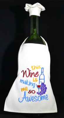 Wine Bottle Apron - Wine Making Me Awesome