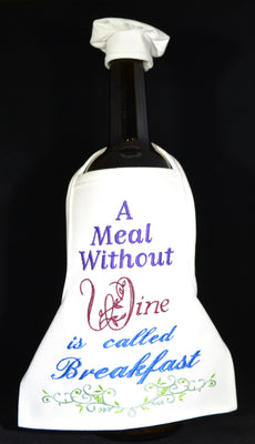Wine Bottle Apron - A Meal Without Wine ....