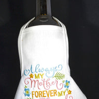 Wine Bottle Apron - Always My Mother
