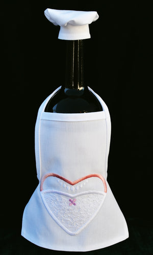 Wine Bottle Apron - Bride