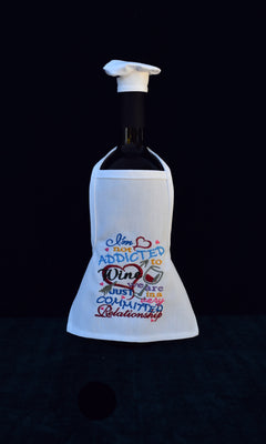 Wine Bottle Apron - Not Addicted