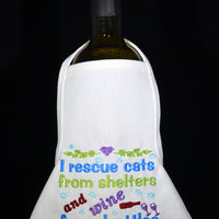 Wine Bottle Apron - Rescue Cats