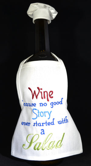 Wine Bottle Apron - Story - Salad