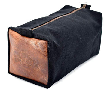 You added Stirling Black Waxed Canvas Premier Leather Wash Bag to your cart.