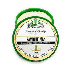 You added Stirling Ramblin' Man Shaving Soap 164g (5.8oz) to your cart.