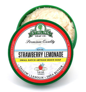 You added Stirling Glacial  Strawberry Lemonade Shave Soap 164g (5.8oz) to your cart.