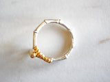 Silver and Gold Polo Mallet Ring