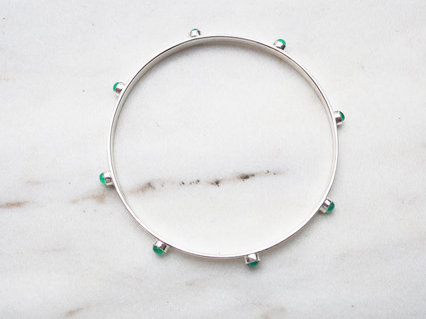 Green Onyx Stud Bangle