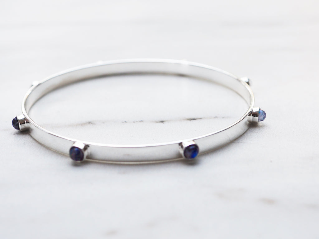 Moonstone Stud Bangle