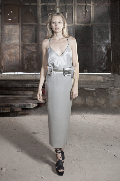 Silver Racer Back Dress