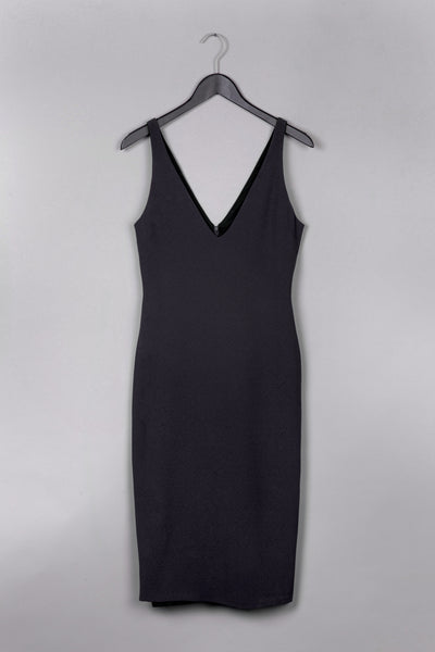 7/8 Pencil Dress- Black